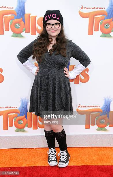 Actress Marlowe Peyton attends the premiere of 20th Century Fox's 'Trolls' at Regency Village Theatre on October 23 2016 in Westwood California