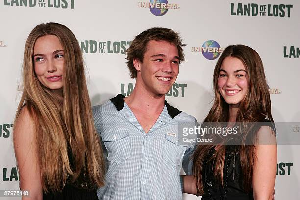 """Actress Marnee Kidd, Actor Lincoln Lewis and Actress Charlotte Best arrives at the Australian Premiere for """"Land of the Lost"""" at Greater Union George..."""