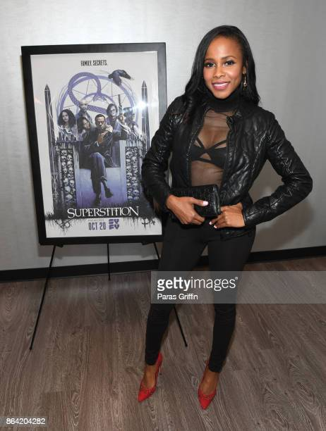 Actress Marquita Goings at Superstition Private Screening on October 20 2017 in Atlanta Georgia