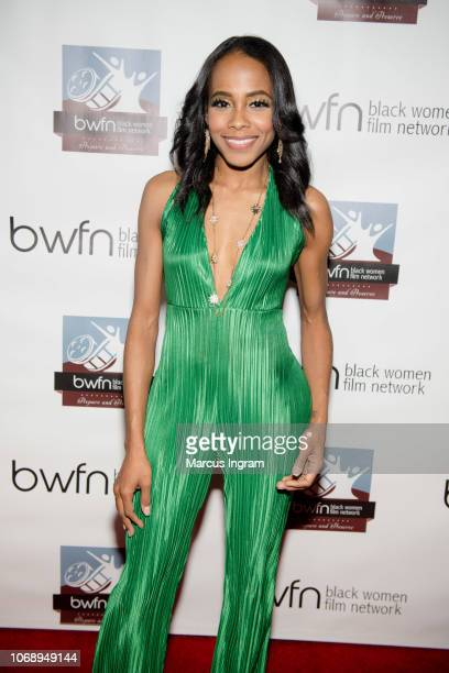 Actress Marquita Goings attends the Black Women Film Network Holiday Party 2018 at The Gathering Spot on December 5 2018 in Atlanta Georgia
