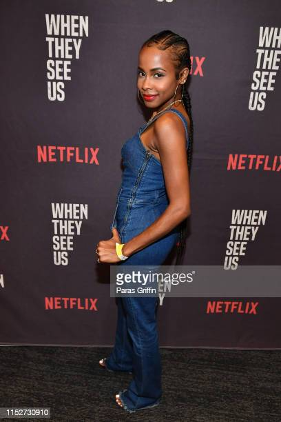 Actress Marquita Goings attends When They See Us Atlanta screening at The Gathering Spot on May 30 2019 in Atlanta Georgia