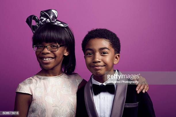 Actress Marsai Martin and actor Miles Brown pose for a portrait during the 47th NAACP Image Awards presented by TV One at Pasadena Civic Auditorium...