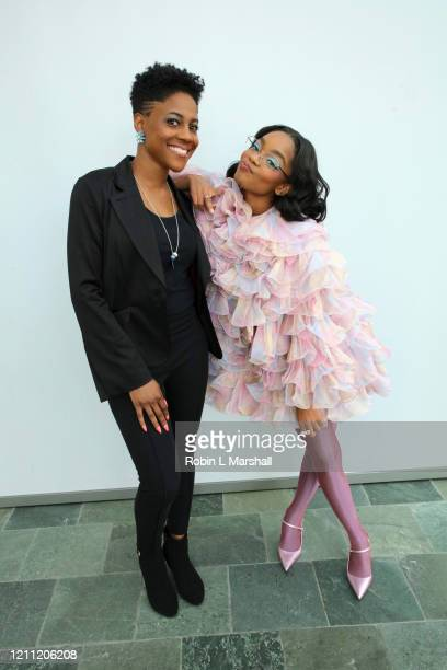 Actress Marsai Martin and Evan Seymour attend the 2020 Sisters' Awards at Skirball Cultural Center on March 08 2020 in Los Angeles California