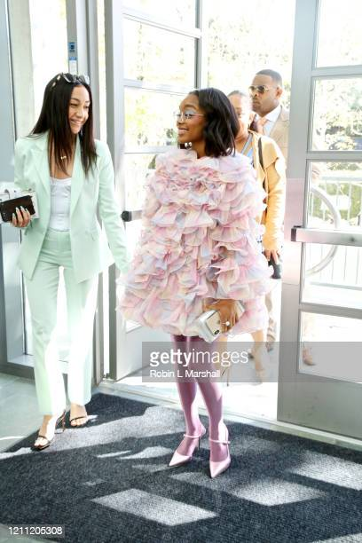 Actress Marsai Martin arrives at the 2020 Sisters' Awards at Skirball Cultural Center on March 08 2020 in Los Angeles California