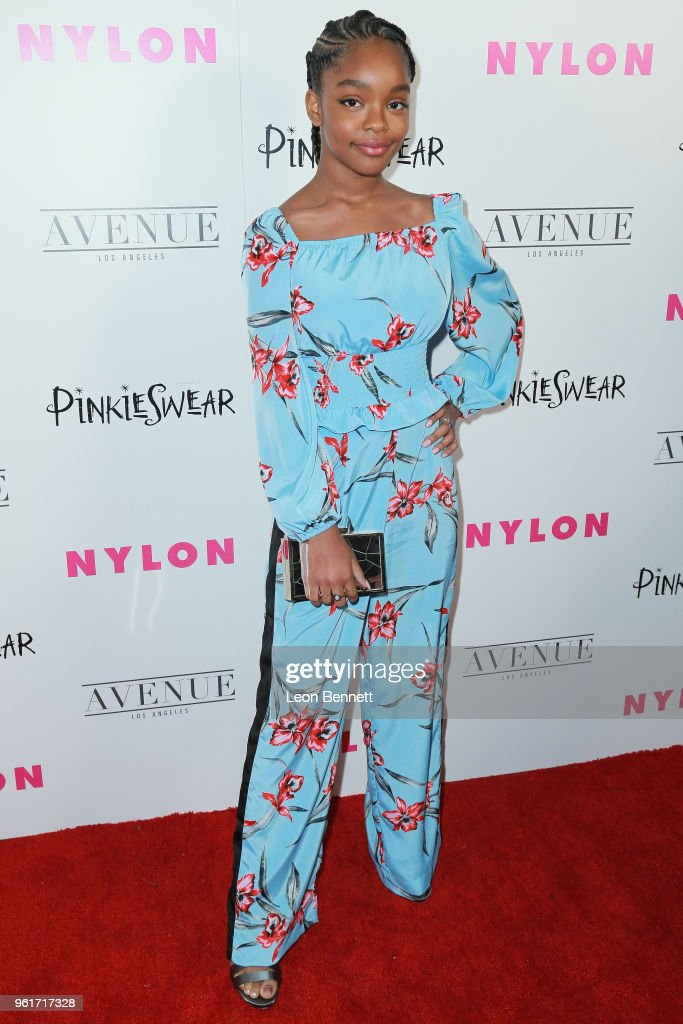 Actress Marsai Martin attends NYLON Hosts Annual Young Hollywood Party at Avenue on May 22, 2018 in Los Angeles, California.