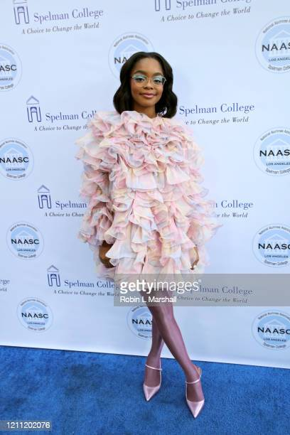 Actress Marsai Martin attends the 2020 Sisters' Awards at Skirball Cultural Center on March 08 2020 in Los Angeles California