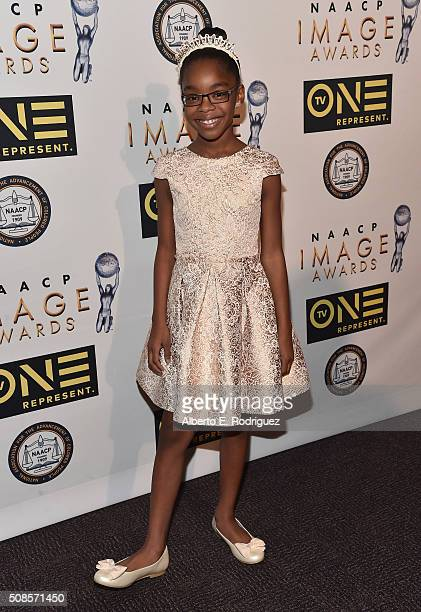 Actress Marsai Martin attends the 47th NAACP Image Awards NonTelevised Awards Ceremony on February 4 2016 in Pasadena California