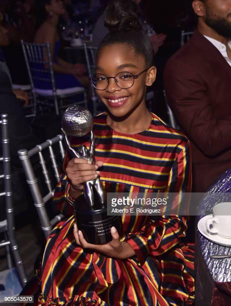 Actress Marsai Martin attends the 49th NAACP Image Awards NonTelevised Award Show at The Pasadena Civic Auditorium on January 14 2018 in Pasadena...