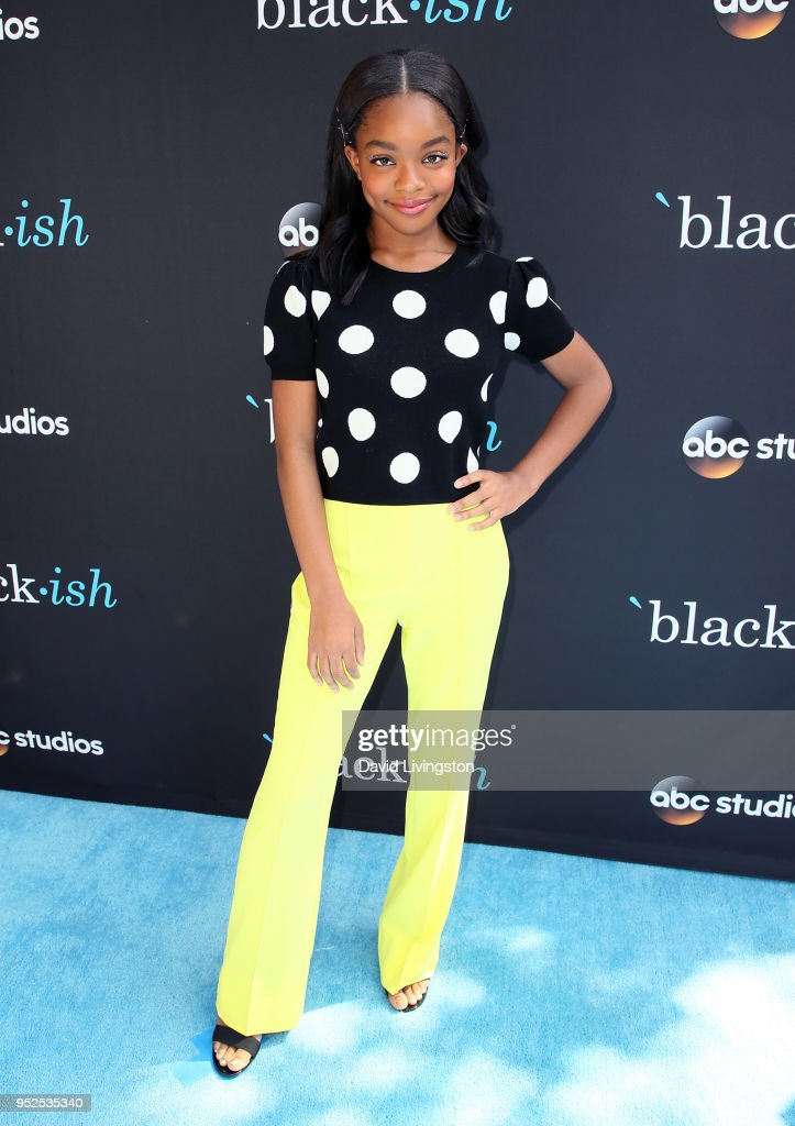 Actress Marsai Martin attends the FYC event for ABC's 'Blackish' at Walt Disney Studios on April 28, 2018 in Burbank, California.