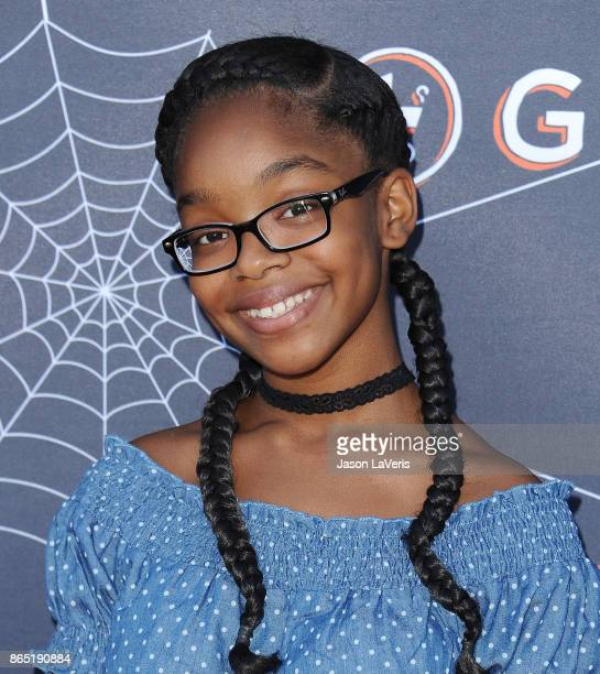 Actress Marsai Martin attends the GOOD Foundation's 2nd annual Halloween Bash at Culver Studios on October 22 2017 in Culver City California
