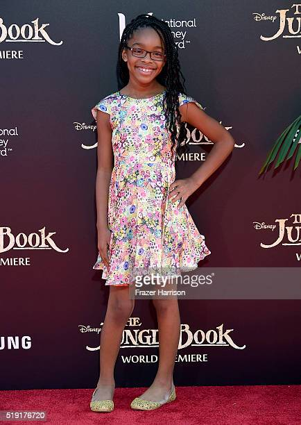 Actress Marsai Martin attends the premiere of Disney's 'The Jungle Book' at the El Capitan Theatre on April 4 2016 in Hollywood California