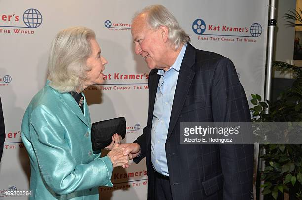 Actress Marsha Hunt and producer Leszek Burzynski attend Kat Kramer's Films That Change The World on April 10 2015 in Hollywood California