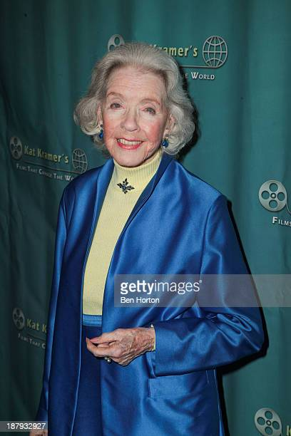 Actress Marsha Hunt attends Kat Kramer's Films That Change The World Film Series 5th Anniversary Fallout Premiere at The Canon USA Inc Screening Room...