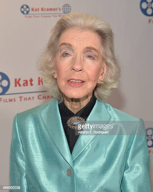 Actress Marsha Hunt attends Kat Kramer's Films That Change The World on April 10 2015 in Hollywood California