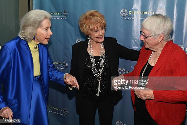 Actress Marsha Hunt producer Karen Kramer and Heather Mayfield attend the 5th anniversary of Kat Kramer's Films That Changed The World featuring the...