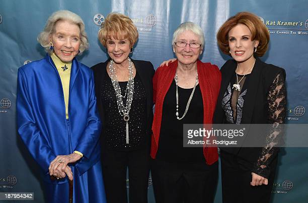 Actress Marsha Hunt producer Karen Kramer Heather Mayfield and producer Kat Kramer attend the 5th anniversary of Kat Kramer's Films That Changed The...
