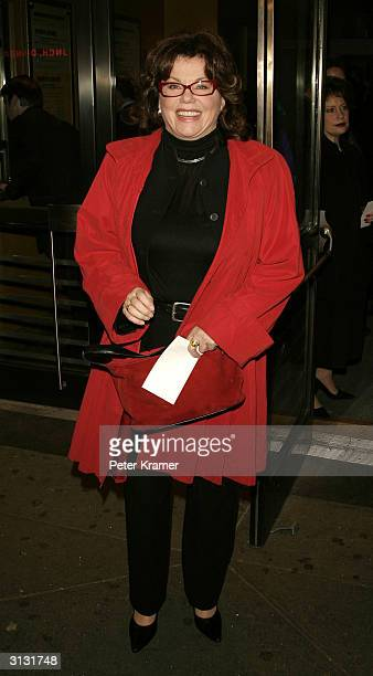 Actress Marsha Mason attends the opening night of 20th Century March 25 2004 in New York City