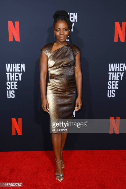 Actress Marsha Stephanie Blake attends FYC Event For Netflix's 'When They See Us' at Paramount Theater on the Paramount Studios lot on August 11 2019...