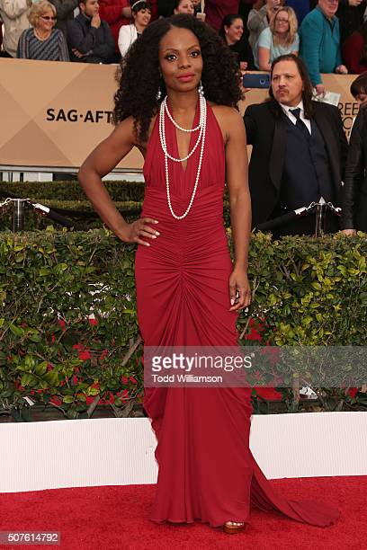 Actress Marsha Stephanie Blake attends the 22nd Annual Screen Actors Guild Awards at The Shrine Auditorium on January 30 2016 in Los Angeles...