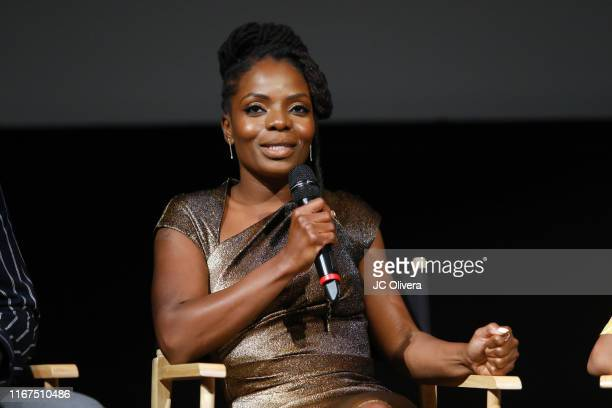 Actress Marsha Stephanie Blake speaks onstage during FYC Event For Netflix's 'When They See Us' panel at Paramount Theater on the Paramount Studios...