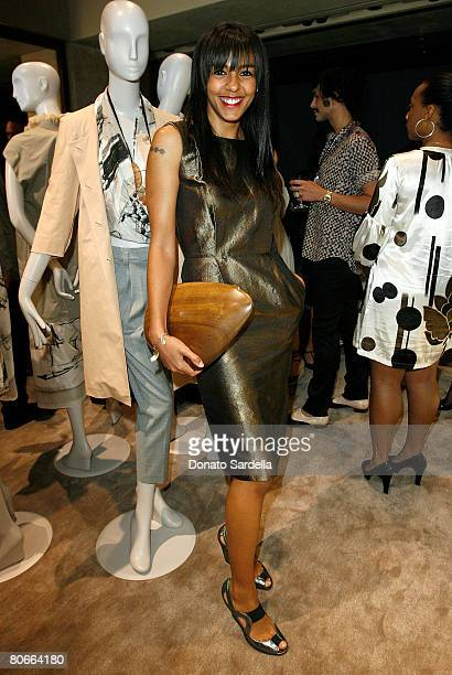 Actress Marsha Thompson poses during the Ports 1961 Los Angeles store opening hosted by W Magazine on April 9 2008 in West Hollywood California