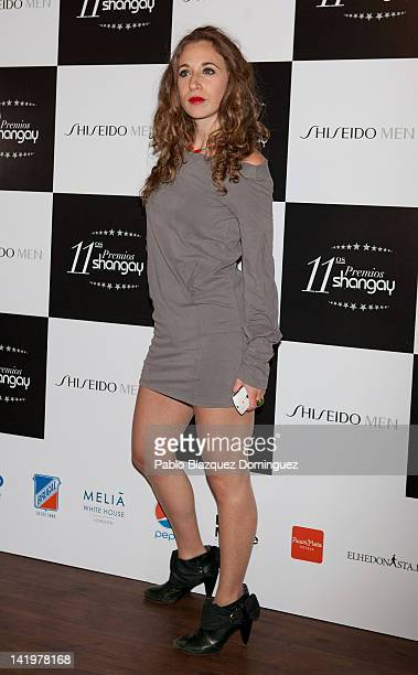 Actress Marta Aledo attends the Shangay Awards 2012 at Calderon Theater on March 27, 2012 in Madrid, Spain.