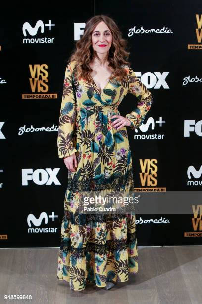 Actress Marta Aledo attends the 'Vis A Vis' photocall at VP Plaza de Espana Hotel on April 19, 2018 in Madrid, Spain.