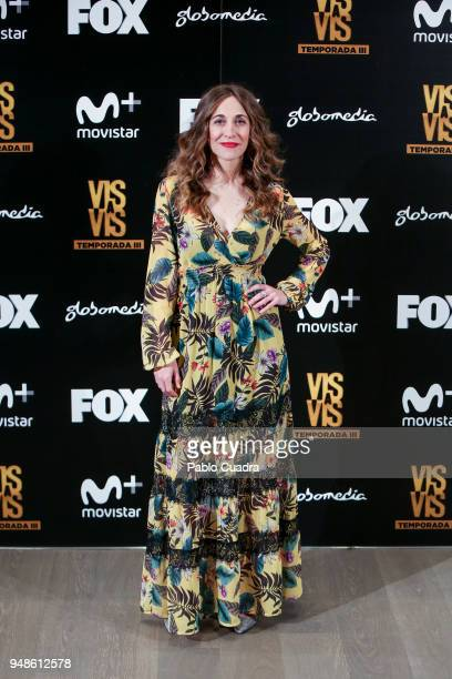 Actress Marta Aledo attends the 'Vis A Vis' photocall at VP Plaza de Espana Hotel on April 19 2018 in Madrid Spain