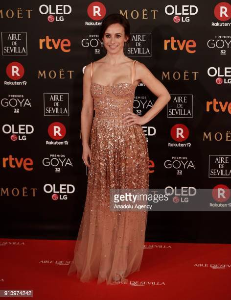 Actress Marta Etura attends the 32th edition of the Goya Awards ceremony in Madrid Spain on February 04 2018