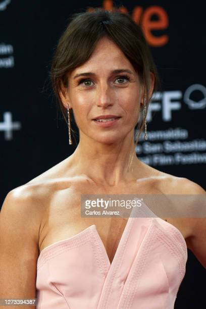 Actress Marta Etura attends the 'Rifkin's Festival' Premiere during the 68th San Sebastian Iternacional Film Festival at the Kursaal Palace on...