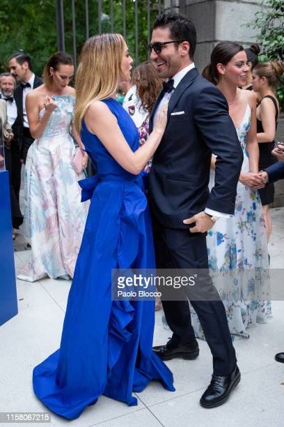Actress Marta Hazas and actor Miguel Angel Silvestre are seen arriving at 'Yo Dona' International Awards 2019 at ThyssenBornemisza Museum on June 24...