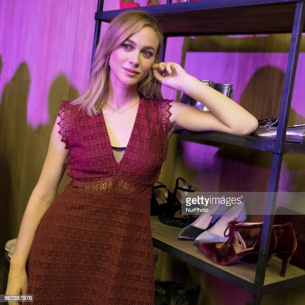 Actress Marta Hazas attends the 'Merkal The Show' event at Gymage theatre on October 17 2017 in Madrid Spain