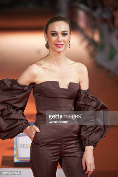 Actress Marta Hazas attends 'Velvet Coleccion' premiere at the Principal Teather during the FesTVal 2018 on September 4 2018 in VitoriaGasteiz Spain
