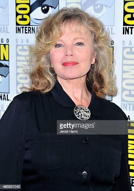 Actress Marta Kristen attends 'Lost In Space' Press Room during ComicCon International 2015 at Hilton Bayfront on July 10 2015 in San Diego California