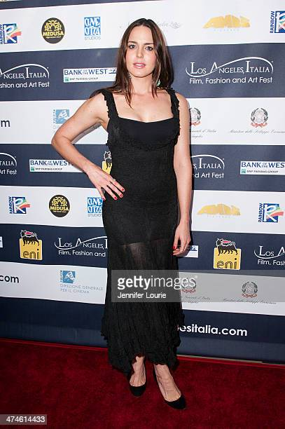 Actress Marta Milans attends the 9th annual Los Angeles Italia Film Fashion and Art Fest opening night ceremony held at TLC Chinese 6 Theatres on...