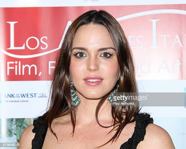 Actress Marta Milans attends the 9th annual Los Angeles Italia Film Fashion and Art Fest opening night gala at the TLC Chinese 6 Theatres on February...