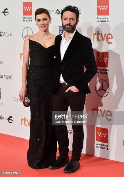 Actress Marta Nieto and director Rodrigo Sorogoyen attends the red carpet during 'Jose Maria Forque Awards' 2020 at Ifema on January 11, 2020 in...