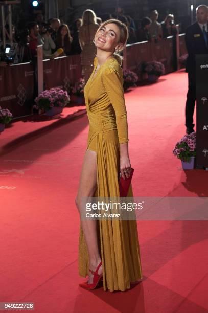 Actress Marta Nieto attends 'Casi 40' premiere during the 21th Malaga Film Festival at the Cervantes Theater on April 20, 2018 in Malaga, Spain.