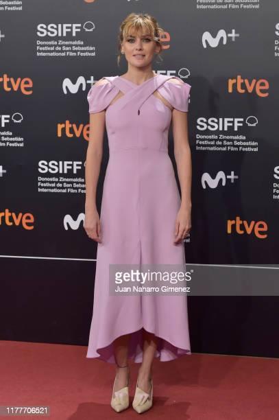 Actress Marta Nieto attends the red carpet on the closure day of 67th San Sebastian International Film Festival on September 28 2019 in San Sebastian...