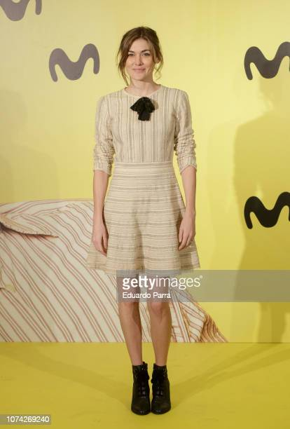 Actress Marta Nieto attends the 'Vergüenza' second season photocall at Telefonica flagship on November 29 2018 in Madrid Spain