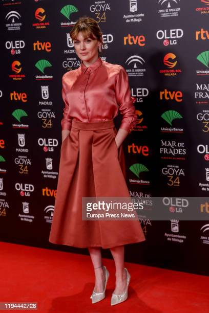 Actress Marta Nieto, nominated as the best actress for the film 'Madre', poses at her arrival to the 34th Goya Awards Nominee Party on December 16,...