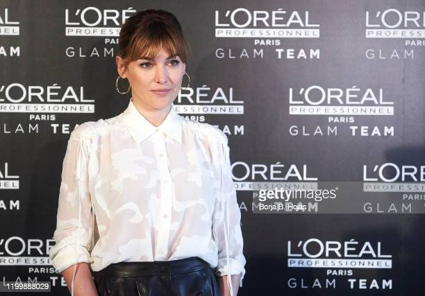 Actress Marta Nieto, nominated to Feroz Awards, attends a presentation by GLAM team L'Oreal ahead of the Feroz Awards on January 16, 2020 in Madrid,...
