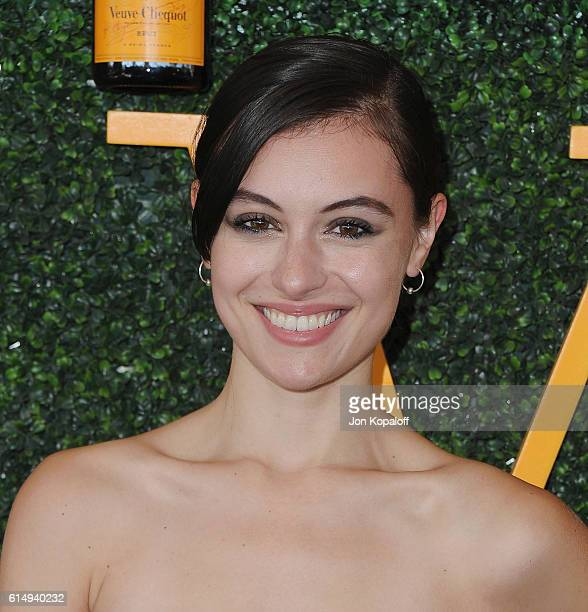 Actress Marta Pozzan arrives at the 7th Annual Veuve Clicquot Polo Classic at Will Rogers State Historic Park on October 15 2016 in Pacific Palisades...