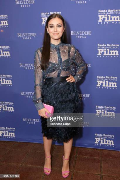 Actress Marta Pozzan attends the Outstanding Performers Tribute honoring Ryan Gosling and Emma Stone during the 32nd Santa Barbara International Film...