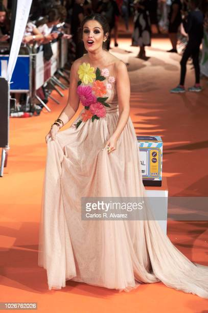 Actress Marta Torne attends 'Velvet Coleccion' premiere at the Principal Teather during the FesTVal 2018 on September 4 2018 in VitoriaGasteiz Spain