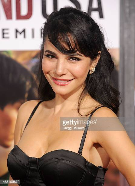 Actress Martha Higareda arrives at the World Premiere of Disney's McFarland USA at the El Capitan Theatre on February 9 2015 in Hollywood California