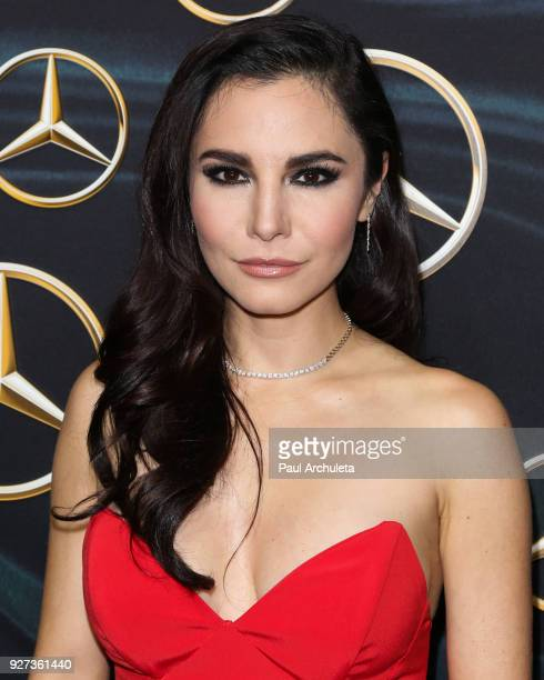 Actress Martha Higareda attends MercedezBenz USA's official Awards viewing party at The Four Seasons Hotel Los Angeles at Beverly Hills on March 4...