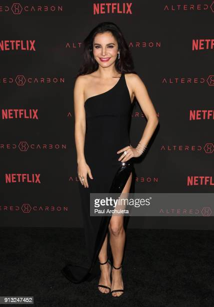 Actress Martha Higareda attends Netflix's Altered Carbon season 1 premiere at Mack Sennett Studios on February 1 2018 in Los Angeles California