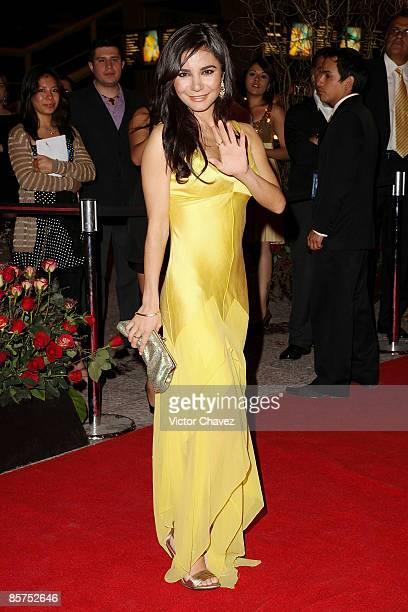 Actress Martha Higareda attends the 2009 Ariel 51 awards at Auditorio Nacional on March 31 2009 in Mexico City Mexico