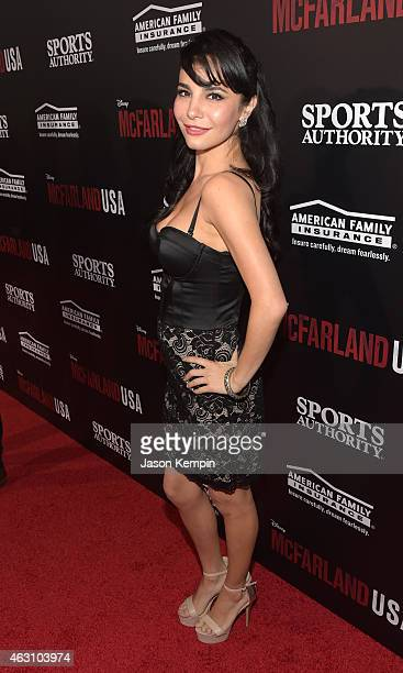 Actress Martha Higareda attends the premiere of Disney's McFarland USA at the El Capitan Theatre on February 9 2015 in Hollywood California